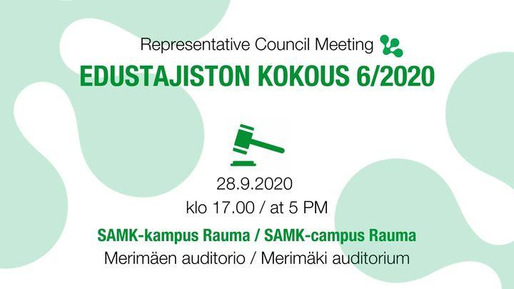 SAMMAKKOn edustajiston kokous 6/2020
