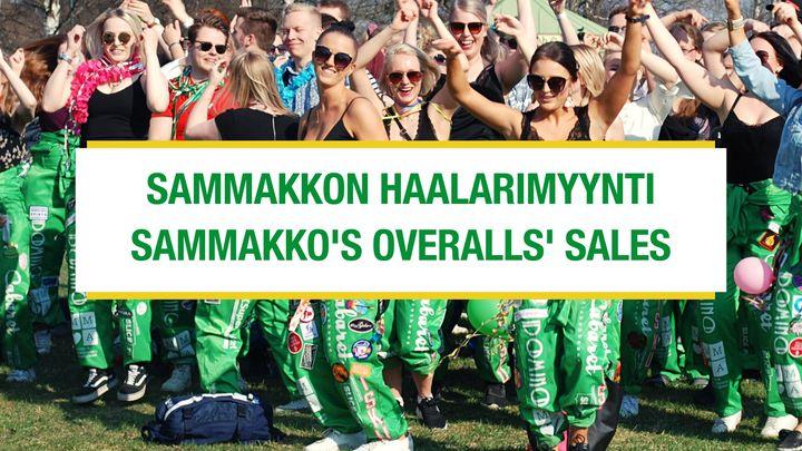 Vihreiden haalarien myyntipäivä / Green overalls' sales day