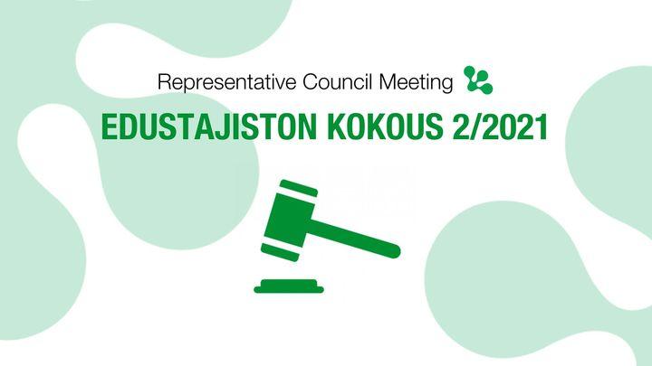 Edustajiston kokous | Representative Council meeting 2/2021