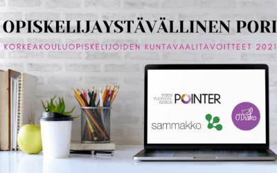 Opiskelijaystävällinen Pori – Porin korkeakouluopiskelijoiden kuntavaalitavoitteet 2021